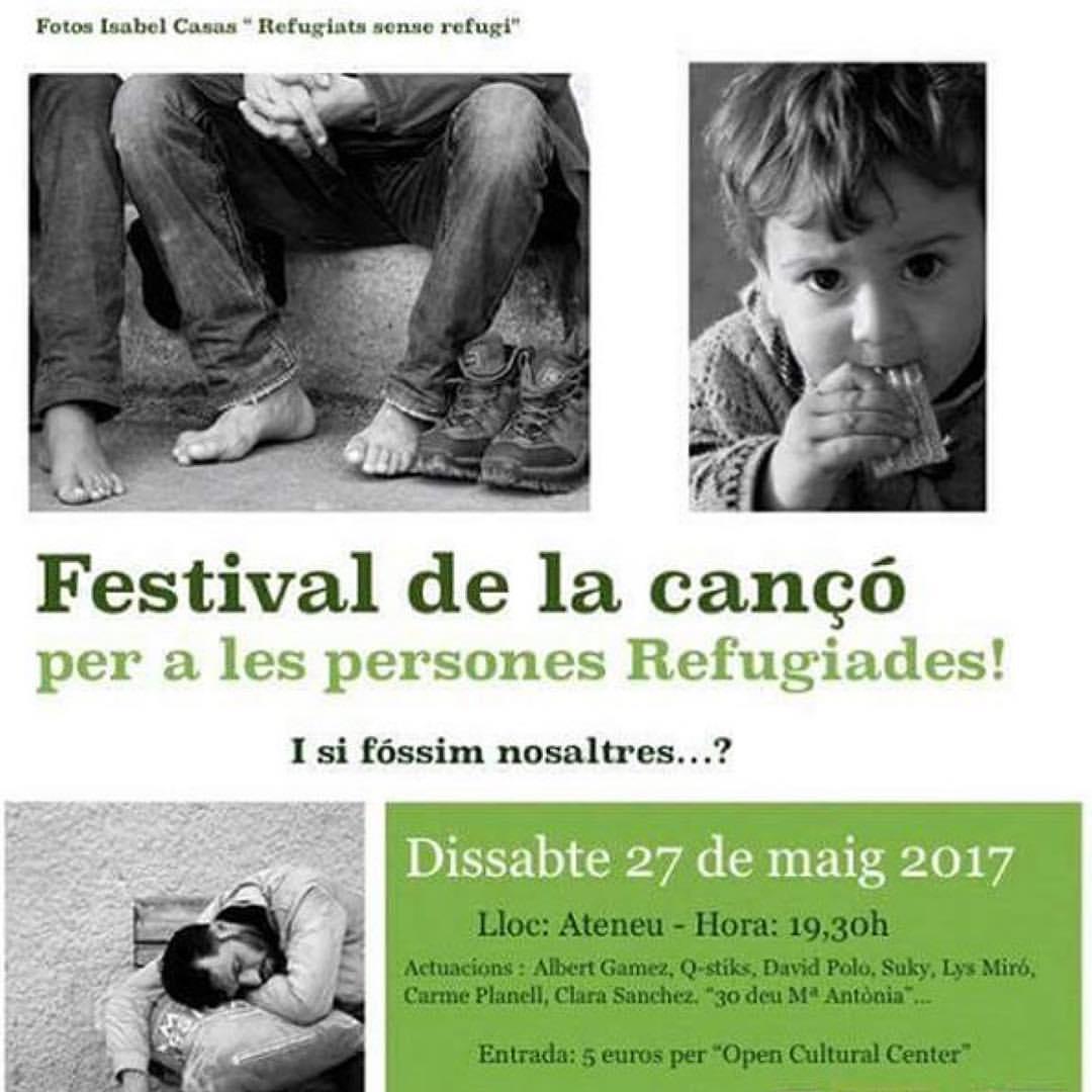 """concierto teatro Ateneu """" Festival de la canción"""" Por los refugiados"""