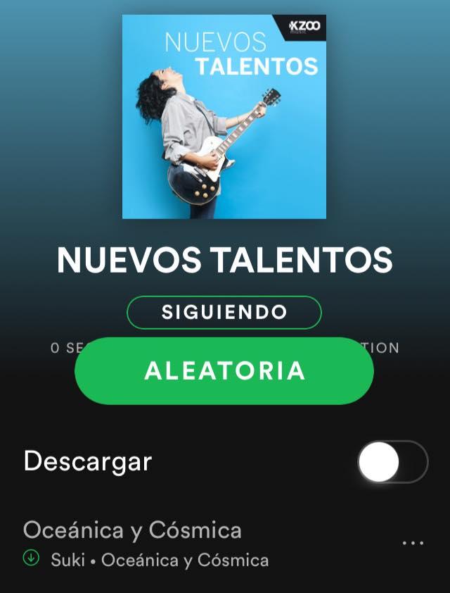 Encabezando esta lista de nuevos talentos en Spotify #kazzomusic